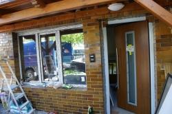 Plastová okna, vstupní dveře - RD - Lichnov