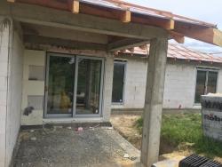 Plastová okna, HS portál, vchodové dveře - novostavba - Kateřinice okr. Nový Jičín