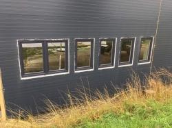 Plastová okna - skladová hala - Bruntál