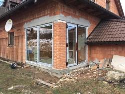 Výklopně posuvné terasové dveře, plastové dveře - Pstruží