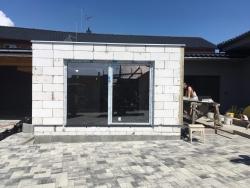 Plastová okna, posuvné dveře - rodinný dům - Opava