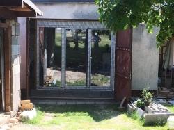 Plastové okno - balkonové dveře s pošířením - RD - Ostrava