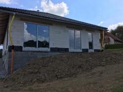 Novostavba Václavovice, okr. Frýdek - Místek - plastová okna, posuvné dveře, garážová vrata