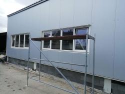Výrobní hala Chvalíkovice - plastová okna
