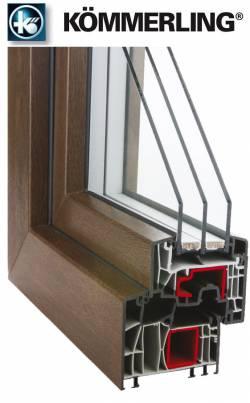 Plastové okno Kömmerling 88 s trojitým těsněním